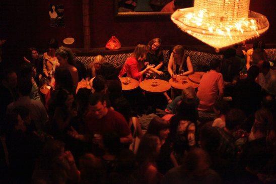 Patrons at Lit Crawl Seattle 2012.