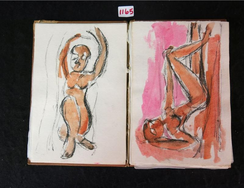 Drawings from inside the Picasso sketchbook.