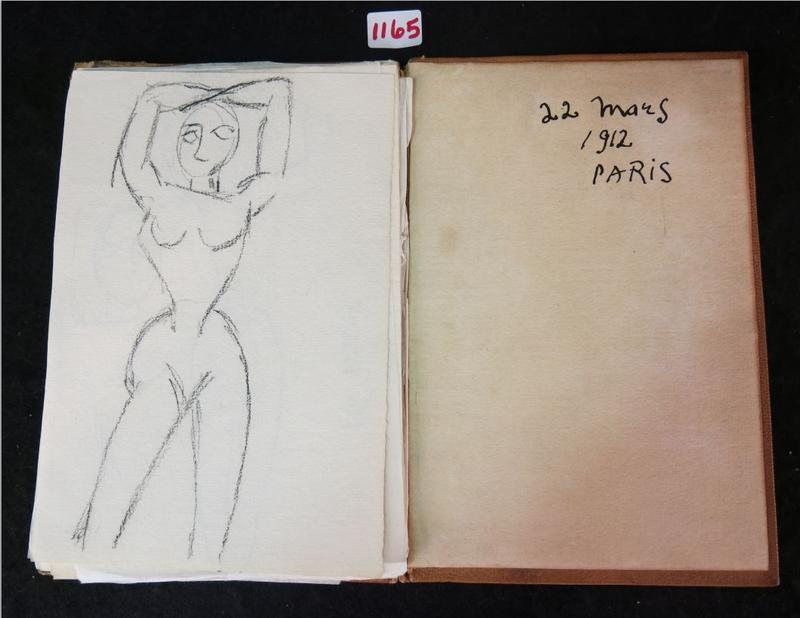 Back cover with date in the Picasso sketchbook.