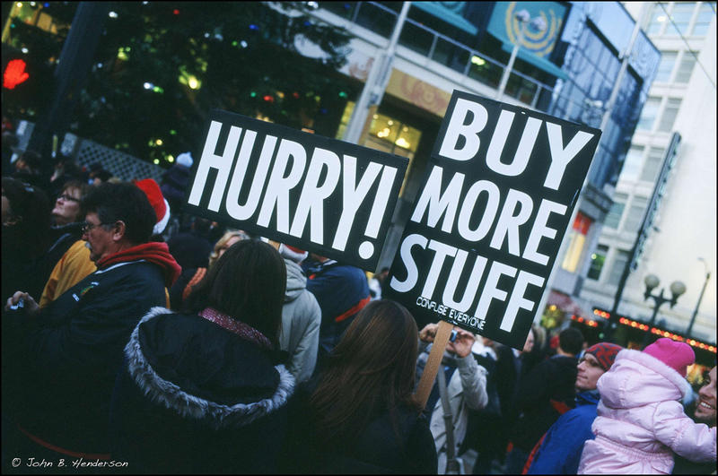 Black Friday in downtown Seattle at Westlake in 2010.