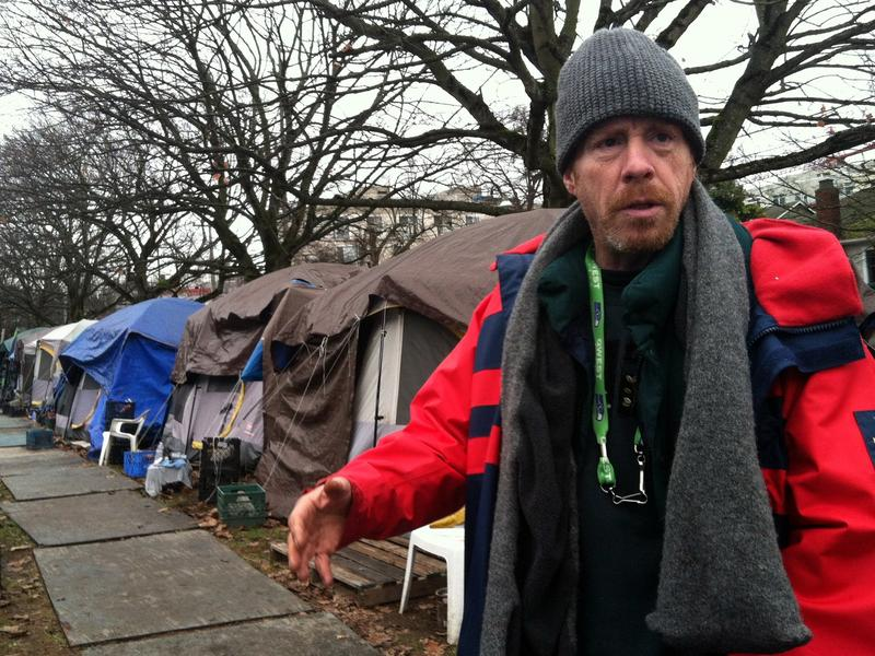 Tent City 3 resident and executive committee member Jeff Roderick