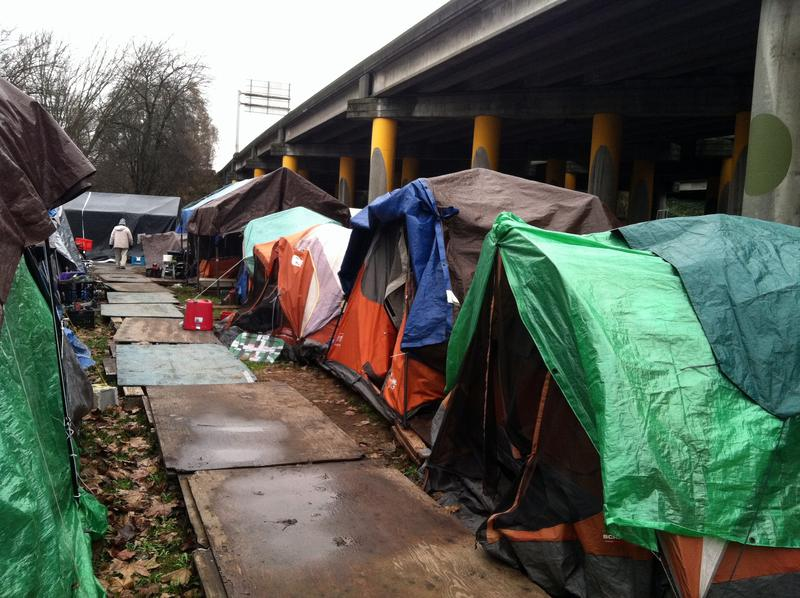 Tent City 3, under I-5 in Seattle's Ravenna neighborhood.