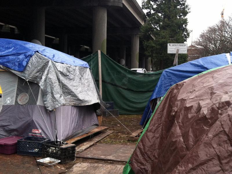 Seattle prohibits camping on public land.