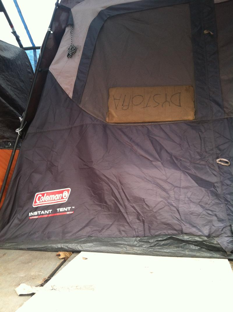 Residents at Seattle's Tent City 3 homeless camp get to name their tents.