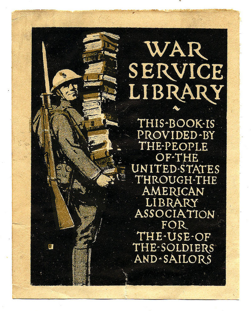 War Service Library Bookplate, 1918