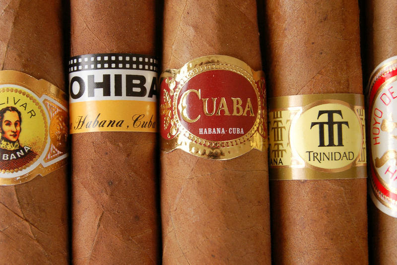 A selection of Cuban cigars.