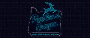 Uber modified the Portland City Mark (as seen here), prompting a cease-and-desist letter from the City of Portland for trademark violation. It was one of a number of legal actions taken against the company. Uber has since removed the image from their blog