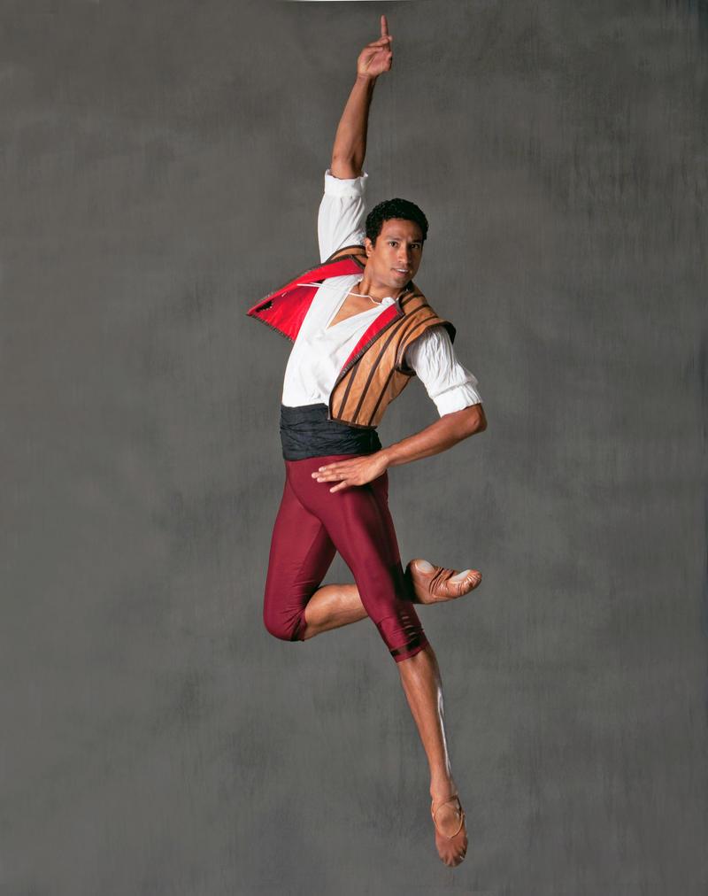 "Pacific Northwest Ballet Principal Dancer Karel Cruz in ""Don Quixote"""