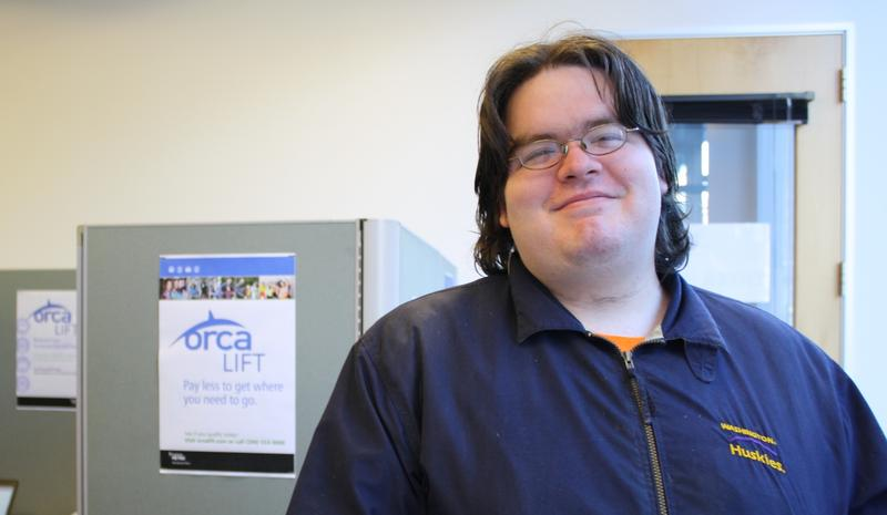 Bryan Parnin showed up at King County Public Health Wednesday to sign up for the new ORCA LIFT card.
