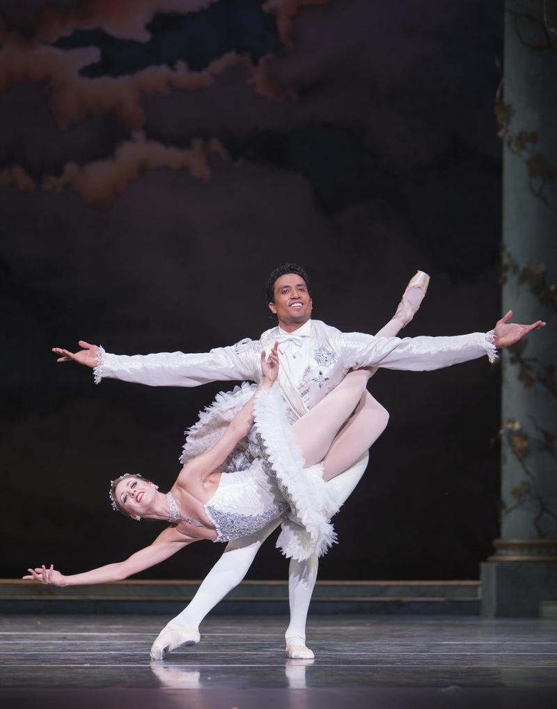 """PNB Princpal Dancers Karel Cruz and Lesley Rausch in """"The Sleeping Beauty"""""""
