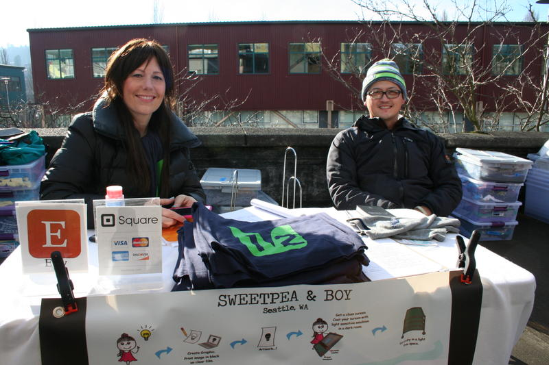 "Samantha and Joel Manalang, owners of ""Sweetpea and Boy,"" at Seattle's Fremont Sunday Market."