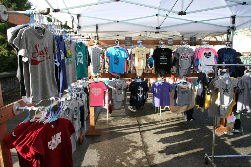 The stall of Sweetpea and Boy and the Fremont Sunday Market on Sunday.