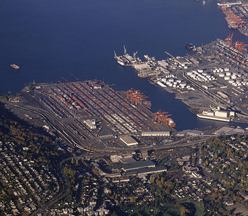 The Port of Seattle's Terminal 5 at the edge of West Seattle