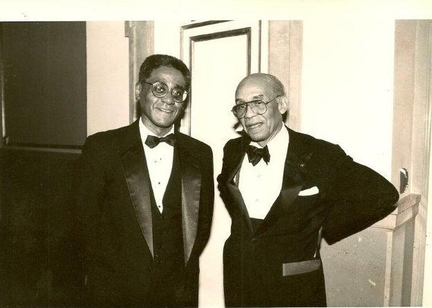 Charles R. Johnson with Ralph Ellison