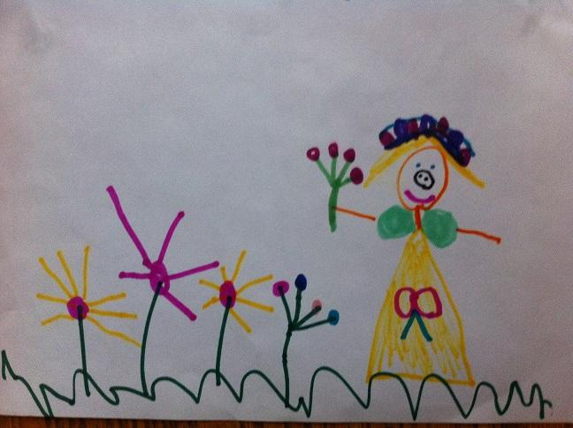 A drawing by a child in Professor Kristina Olson's study. Olson has found that transgender and non-trans girls have an equally deep sense of their gender identity.