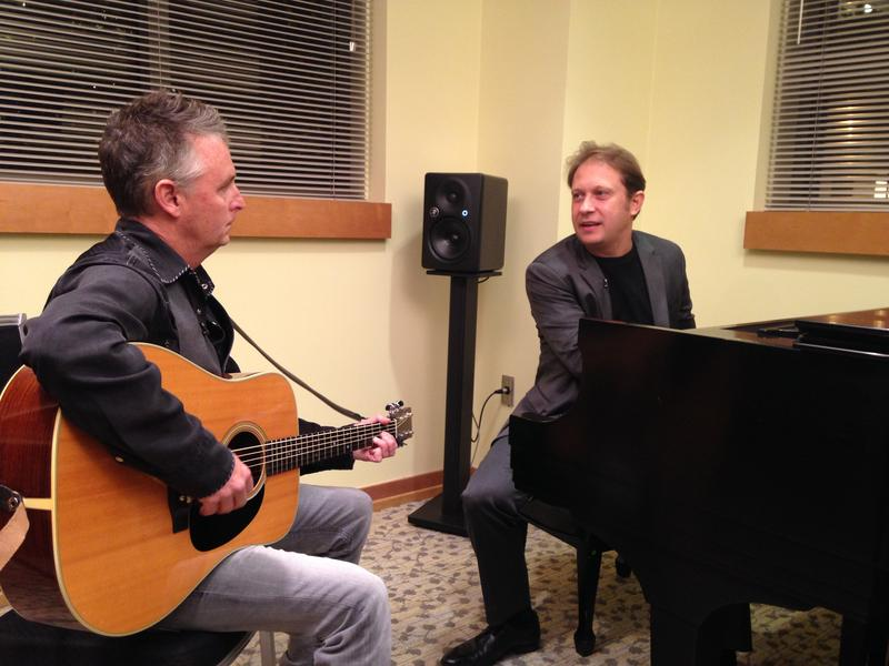 Pearl Jam guitarist Mike McCready with Seattle Symphony Music Director Ludovic Morlot.