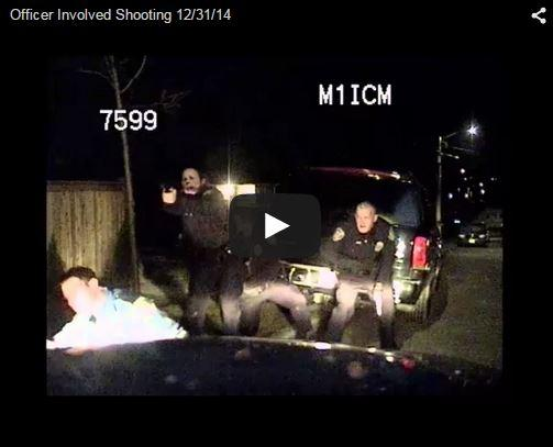 A snapshot of a video uploaded by Seattle Police to YouTube. The video is a police dash camera video.