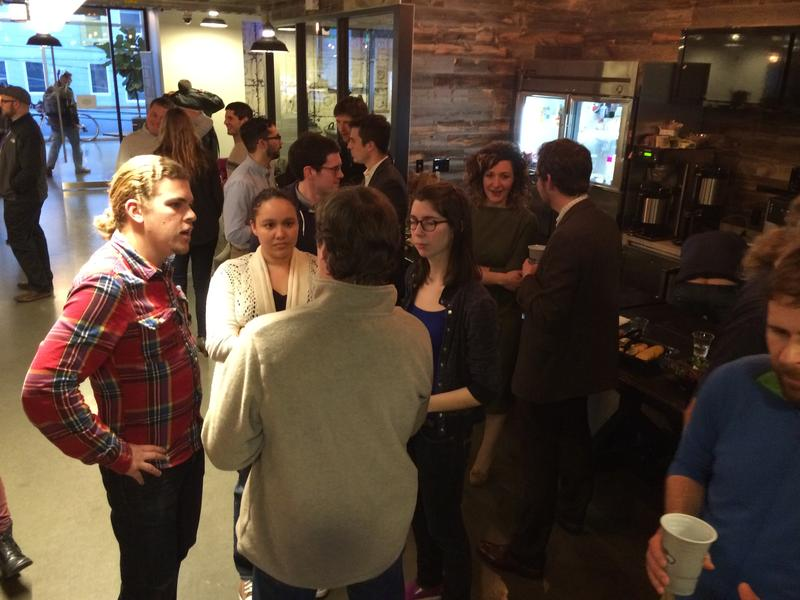 Coders and collectors of data met at We Work in South Lake Union to begin the city-sponsored hackathon.