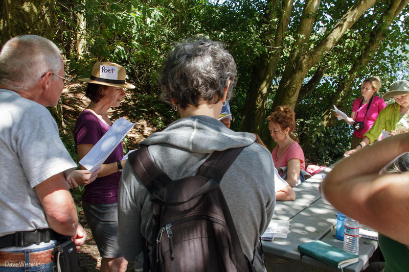 A Hike and Write event that Elizabeth Austen held at Deception Pass State Park in the summer of 2014..