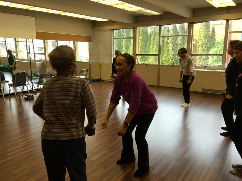 Edna Daigre, center, teaches a class for older dancers in Seattle's Central Area.