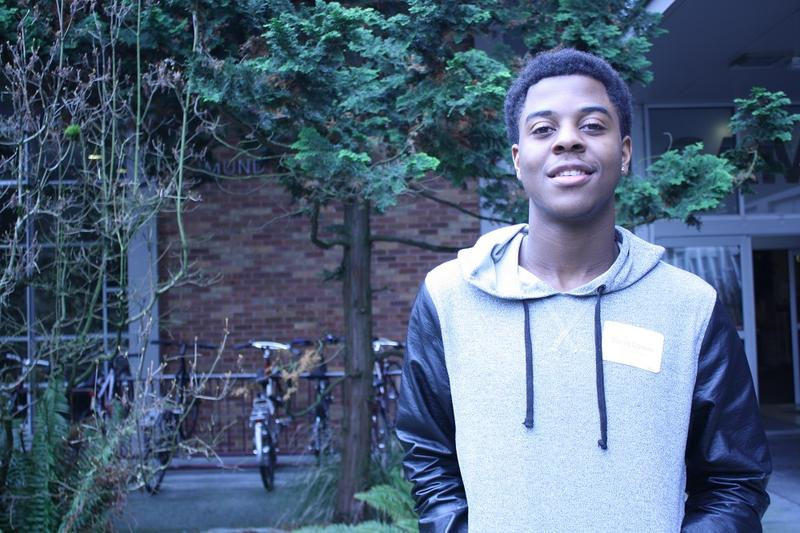 Tariq Dyson, a student at Nathan Hale High School, attended a conference at Seattle University about combatting bullying in school.