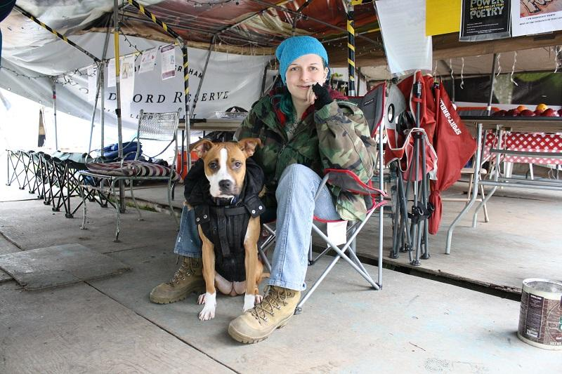 Hannah Webb, a resident of Seattle's Tent City 3 in Feb. 2015 on the campus of Seattle Pacific University