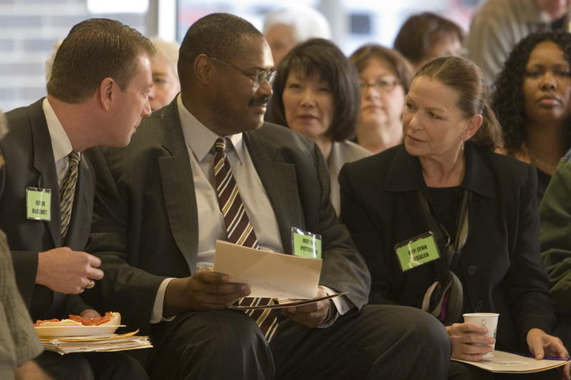 Former Rep. Joe McDermott, Rep. Eric Pettigrew and former Rep. Lynn Kessler at an event in 2006.`