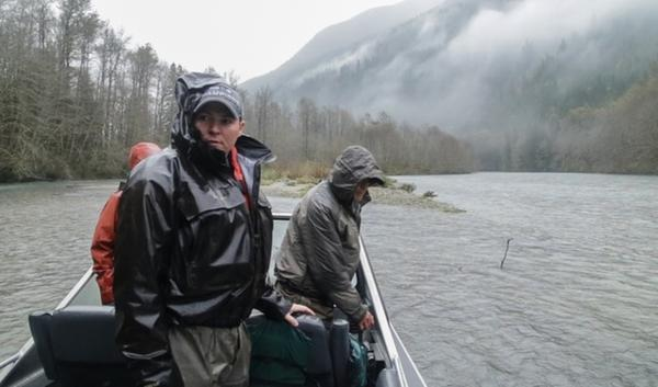 Erin Lowery is a fisheries biologist for Seattle City Light. His job is to figure out where salmon are spawning on the Skagit River and then make sure his employers dams release the right amount of water to allow the eggs to incubate safely.