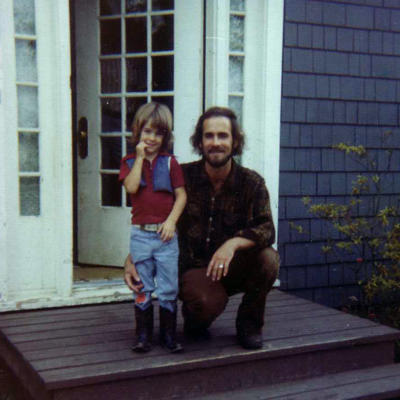 Jason Schmidt and his dad around 1976 at their house on Hayes Street in Eugene, Oregon.
