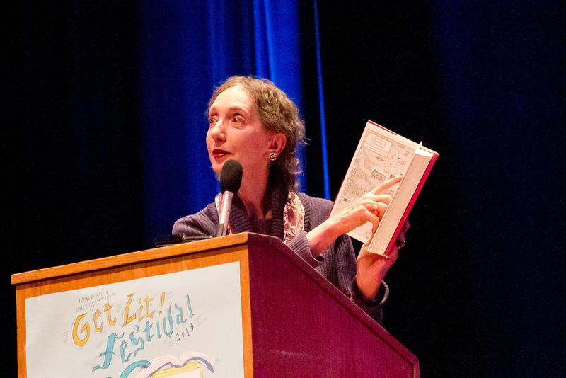 Joyce Carol Oates at Eastern Washington University's Get Lit! festival in 2013.