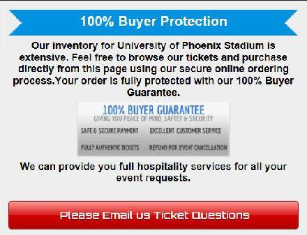 A portion of a page on SBTickets.com, provided by the state Attorney General's Office, offers reassurances to potential ticket buyers for the Super Bowl
