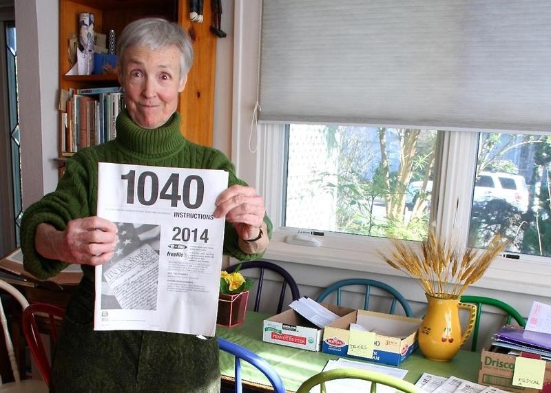 Susan Dean, 78, says doing her taxes by hand would be impossible without the IRS instruction booklet, which the IRS no longer widely distributes.
