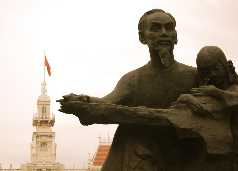 Statue of Ho Chi Minh in Ho Chi Minh City, Vietnam.