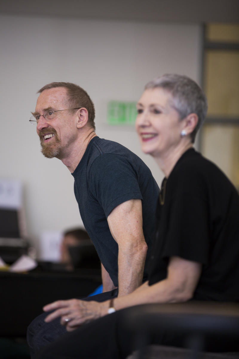 Choreographer William Forsythe with stager Kathryn Bennetts at Pacific Northwest Ballet