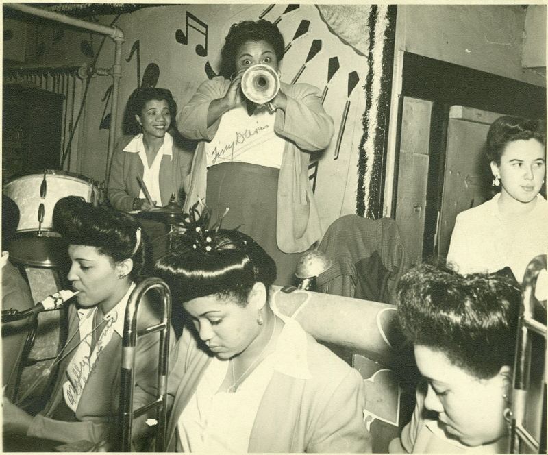 The International Sweethearts of Rhythm at the Black & Tan Speakeasy, Sept. 24, 1944. Photo by Al Smith Sr.