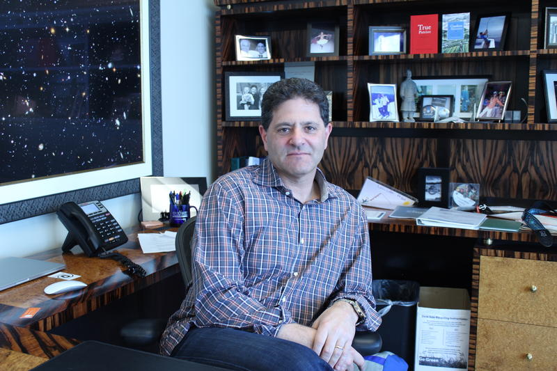 Venture Capitalist Nick Hanauer, in his downtown Seattle office.