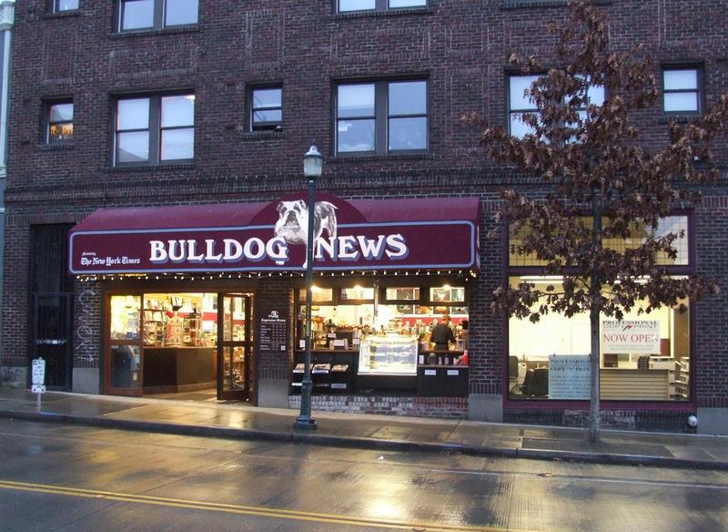 The U-District's Bulldog News on University Avenue.