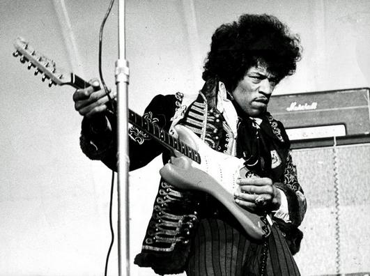 Jimi Hendrix in 1967.