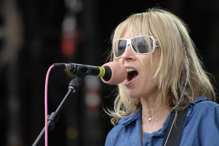 Musician Kim Gordon at La Route du Rock 2007