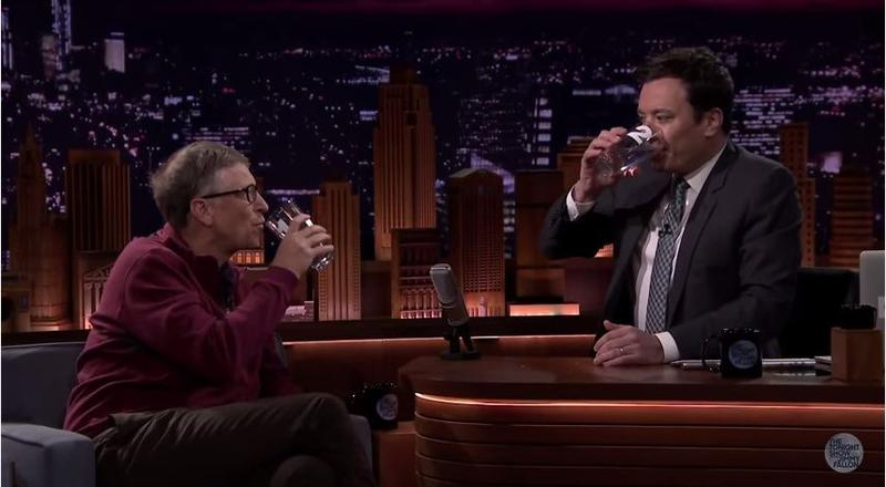 "Bill Gates challenges ""Tonight Show"" host Jimmy Fallon to guess which is the poop water made in the Omni Processor."