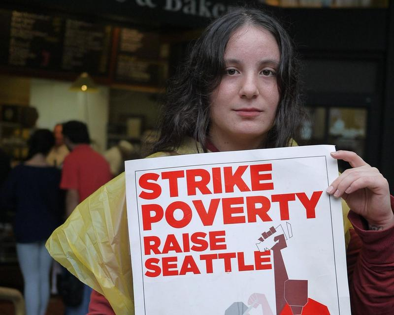 Christina Rodriguez, 25, was one of dozens of fast food workers who walked off the job during fast food in Seattle strikes in 2013.