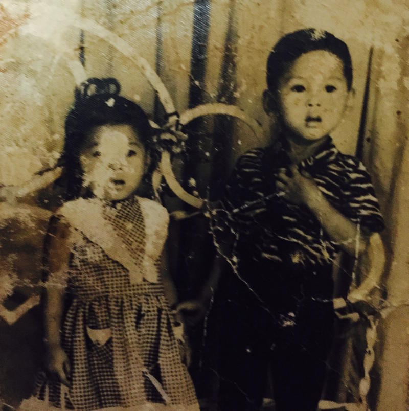 The only surviving photo of the Cambodian genocide from Charles Som Nguyen's family. Pictured are his aunt and uncle.