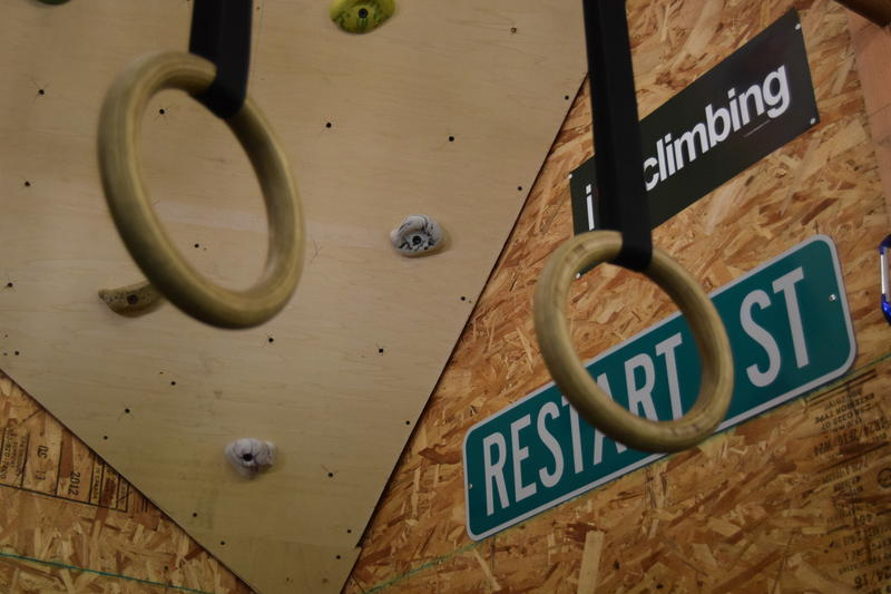 The garage of the main house at reSTART, the digital addiction recovery program in Carnation, Washington, has been converted into a mini Crossfit gym. Hilarie Cash, founder of the program, says it can get competitve.