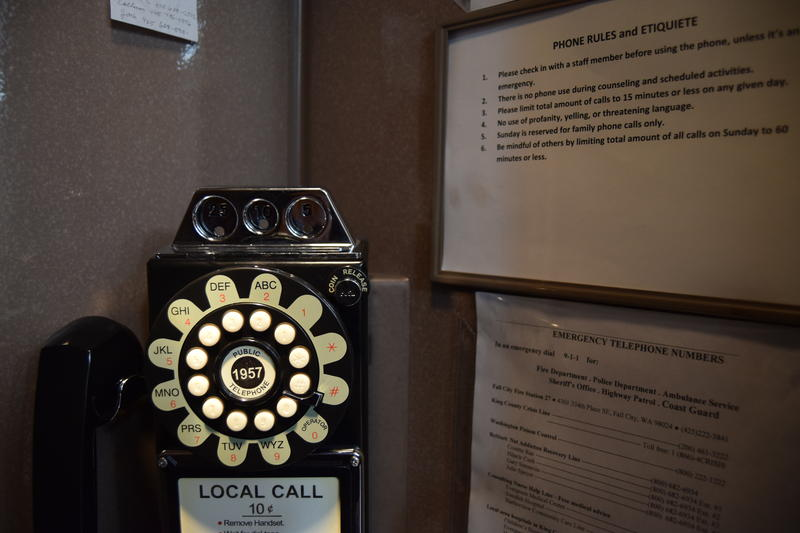 Phone calls are limited to rotary phone at reSTART, where only family calls are allowed, and only on Sundays.