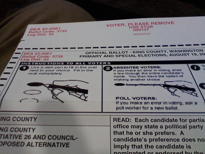 Washington King County ballot election