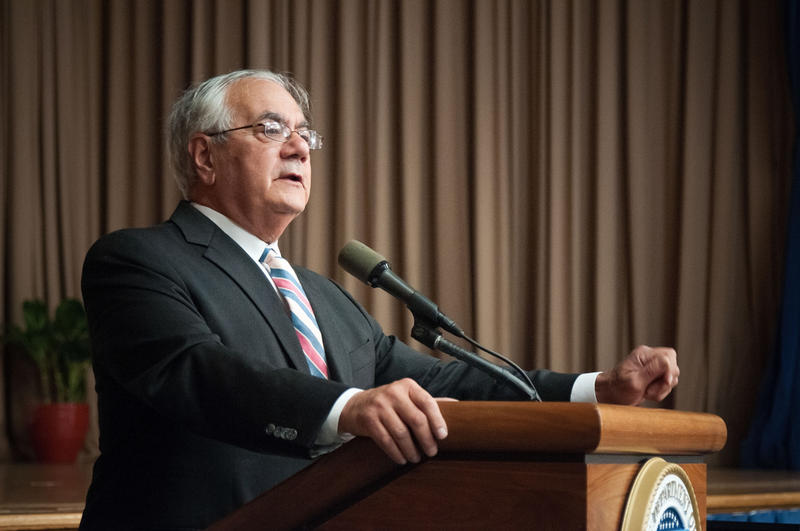 File Photo: Massachusetts Rep. Barney Frank at a USDA event in 2012.
