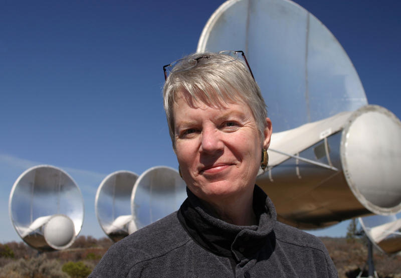 Dr. Jill Tarter, 2009 TED prizewinner, at the Allen Telescope Array