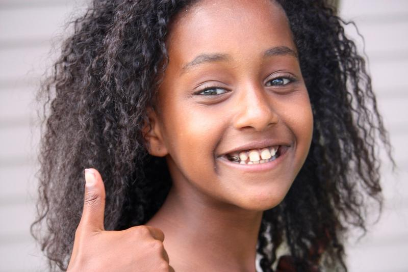 Meri Putnam, age 11. She was adopted from Ethiopia at age 5.