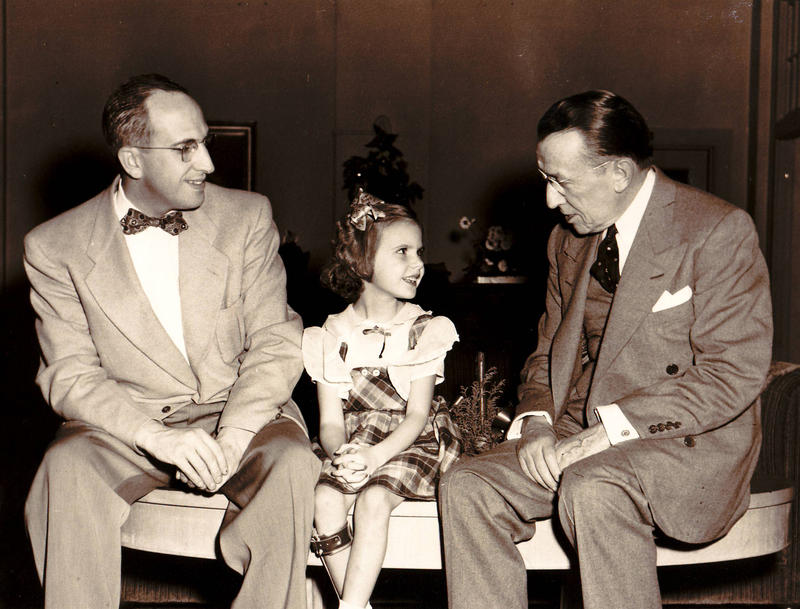 Kathy Parrish and her father George Dean meet Basil O'Connor, the founder of the March of Dimes.