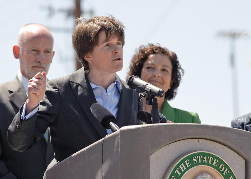 Seattle City Councilmember Sally Clark speaks at a viaduct event on June 3, 2011.
